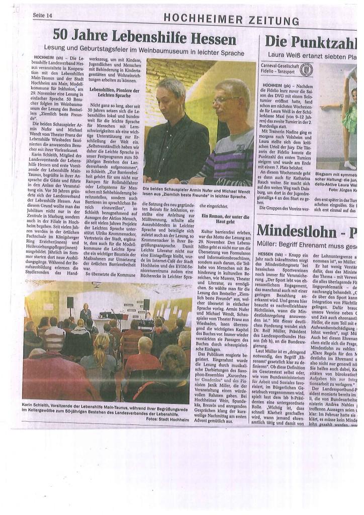 Lesung 29.11.15 - Zieml.beste Freunde Hochheimer Zeitung[1]